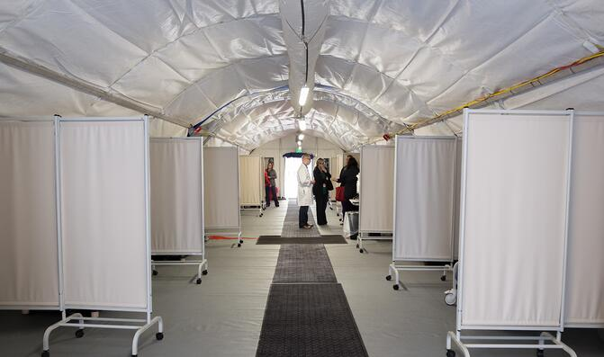 medical triage tents and privacy screens