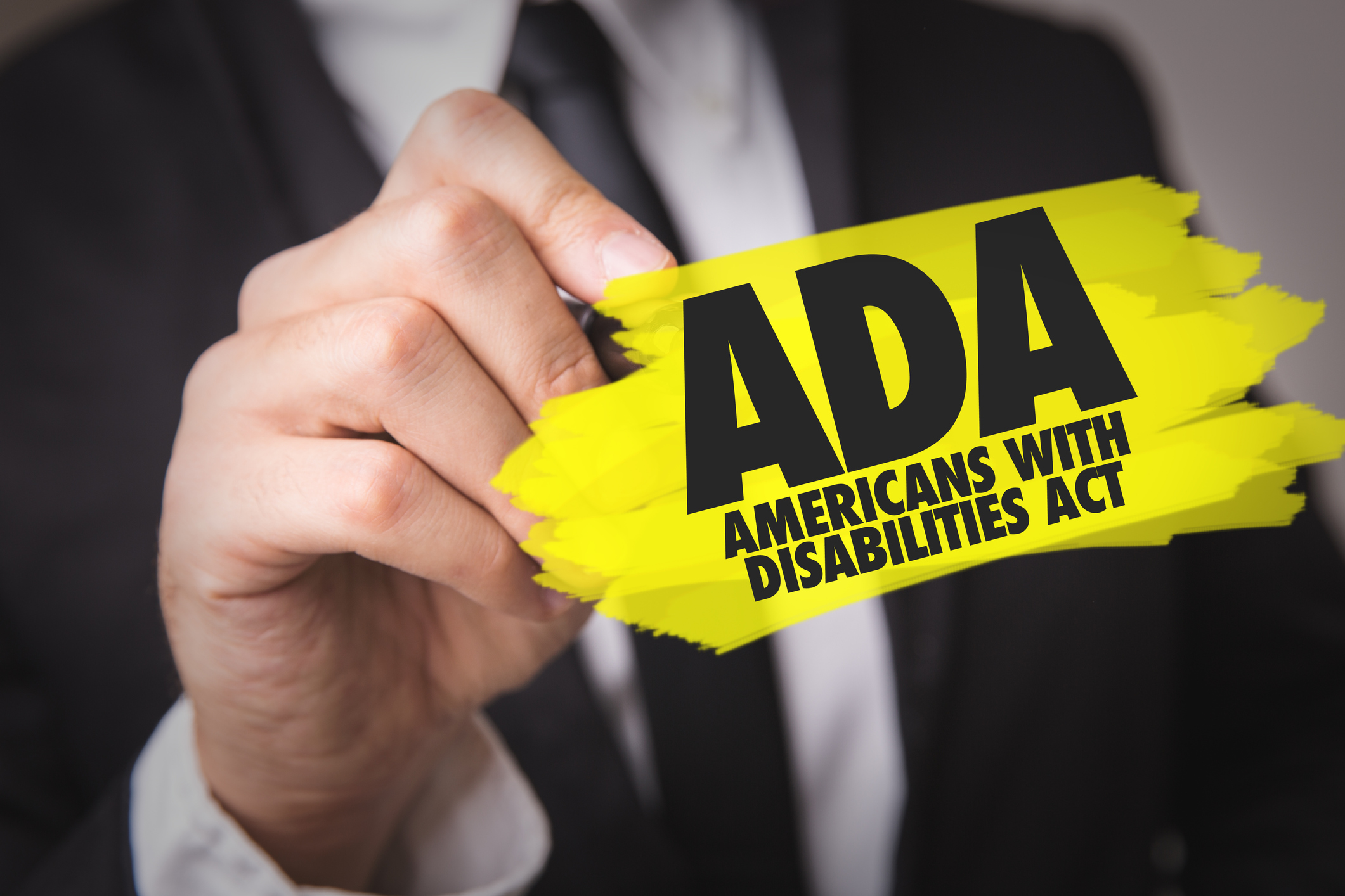 ADA - Americans With Disabilities Act sign
