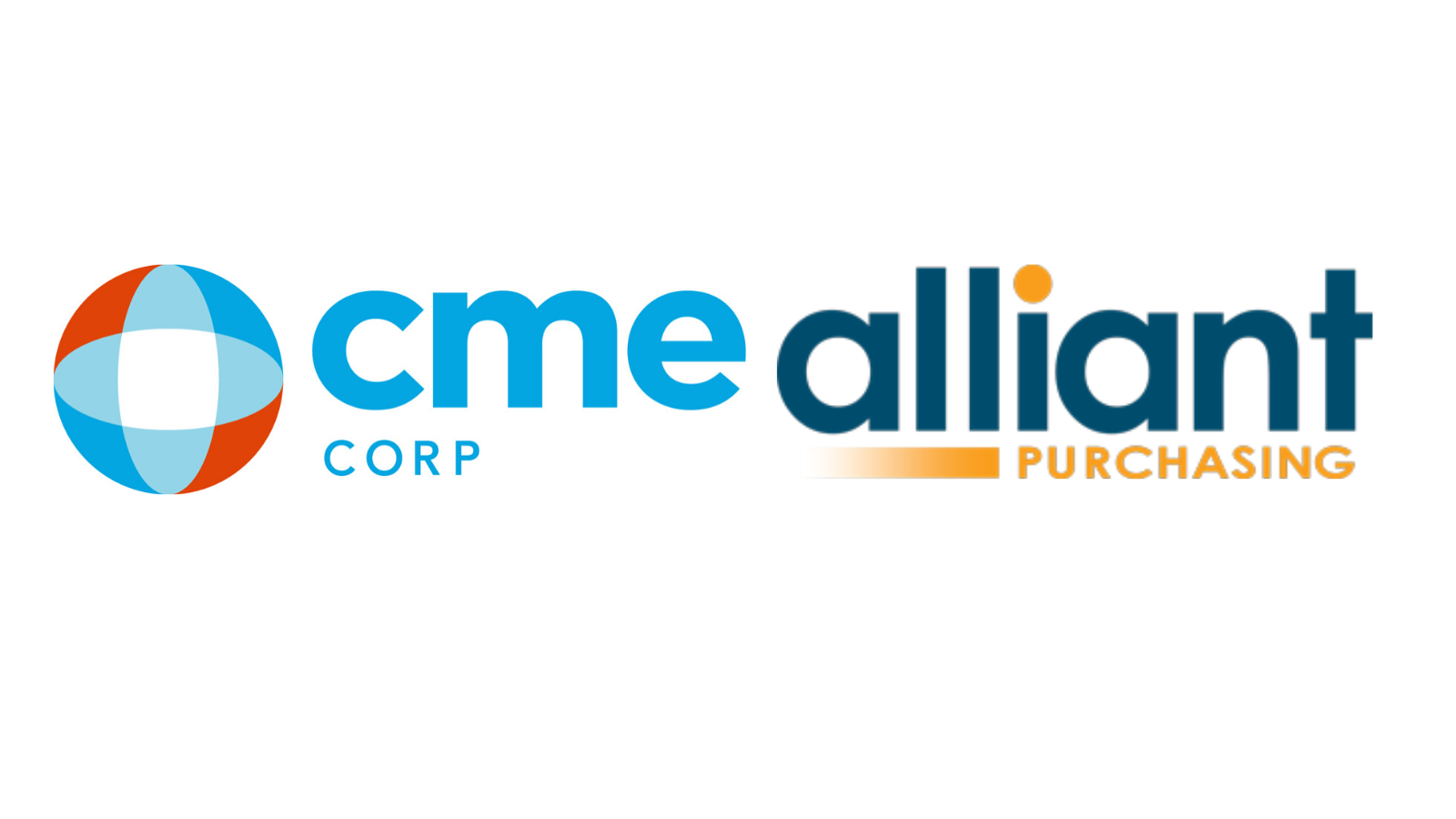 CME Corp logo with Alliant Purchasing logo