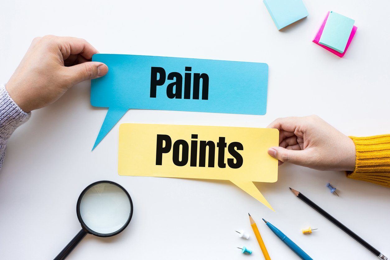 Business pain point and marketing concepts
